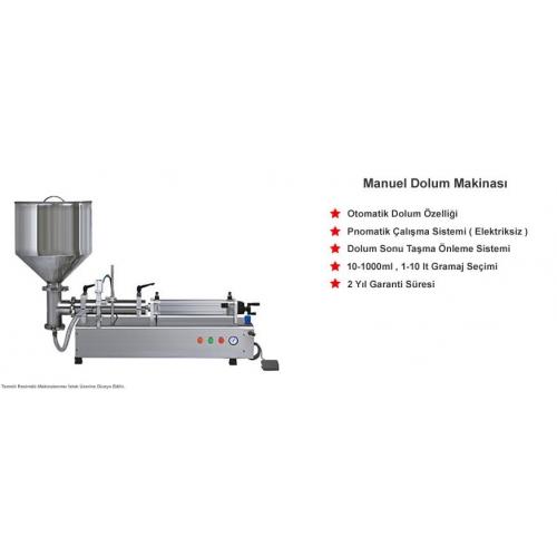 Masa Üstü Yarı Otomatik Bal Dolum Makinesi